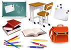 Thumbnail School Items Vector EPS
