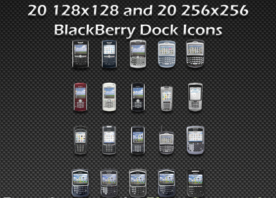 Product picture BlackBerry Dock Mobile Device Icons - High Quality