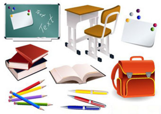 Product picture School Items Vector EPS